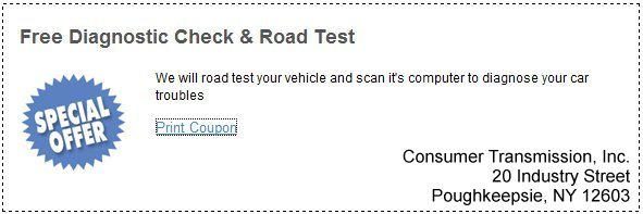 free diagnostic check and road test at our transmission repair shop